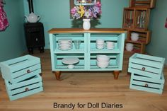 How to Make a Dollhouse Credenza