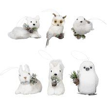 Assorted White Critter By Ashland Animal Ornament Christmas Animals Animals