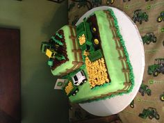 John Deere Cake - I like the fencing on this one