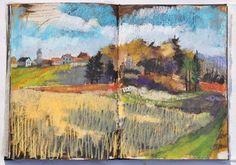 oil pastel landscapes | Plein air oil pastel – landscape painting – time lapse video part2