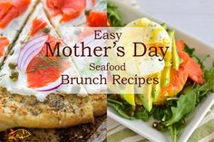 Mother's Day - From smoked salmon to lobster and everything in between, these 16 recipes will help create a relaxing meal without slaving away in the kitchen! Brunch Ideas For A Crowd, Easy Brunch Recipes, Healthy Brunch, Egg Recipes For Breakfast, Breakfast Quiche, Vegetarian Breakfast, Potluck Recipes, Breakfast Ideas, Veggie Recipes