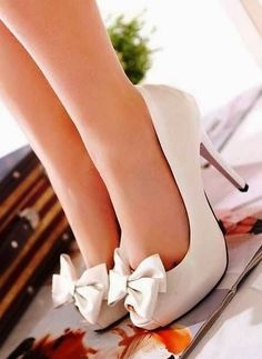 Cute High Heel Bow Pumps