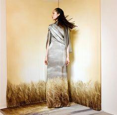 rodarte: Rodarte fittings with Fei Fei Sun (Photo by Autumn de Wilde). Love Fashion, Womens Fashion, Fashion Design, High Street Trends, Sun Photo, Wearable Art, High Neck Dress, Style Inspiration, Couture