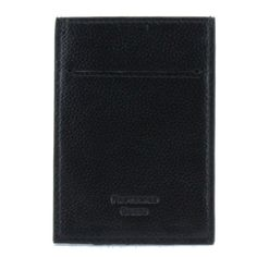 Pebble Leather RFID Blocking Card Holder Wallet Money Clip Black Cash Wallet, Money Clip Wallet, Rfid Blocking Wallet, Minimalist Wallet, Pebbled Leather, Continental Wallet, Card Holder, Black, Minimal Wallet