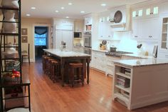 Oak Ridge Revival: The Heart of the Home - love the table-style island w/ sink