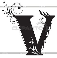 Initial letter V | Stock Vector Graphics | ID 3075621