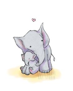 A personal favorite from my Etsy shop https://www.etsy.com/listing/234370202/elephant-love-8x10-nursery-art-childrens