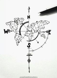 Tattoo compass drawing design ink ideas for 2019 - # for . - Tattoo compass drawing design ink ideas for 2019 – - Outline Drawings, Ink Drawings, Tattoo Sketches, Drawing Sketches, Drawing Ideas, Drawing Designs, Tattoo Designs, Doodle Sketch, Drawing Art