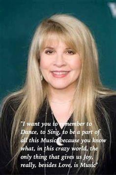 a great Stevie wisdom ? and music is what she does best Stevie Nicks Quotes, Stevie Nicks Fleetwood Mac, Make Mine Music, Lindsey Buckingham, Music Heals, Girls Rules, Jim Morrison, Best Vibrators, Female Singers