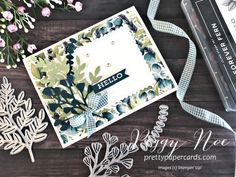 Pretty Paper Cards - Peggy Noe, Independent Stampin' Up! Anna Griffin Cards, Stampin Up Catalog, Easel Cards, Scrapbook Page Layouts, Stamping Up, Flower Cards, Ferns, Homemade Cards, Stampin Up Cards