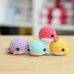 Crochet Animal Patterns, Fish Patterns, Stuffed Animal Patterns, Crochet Animals, Kawaii Crochet, Love Crochet, Crochet Baby, Crochet Crafts, Crochet Toys