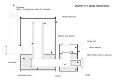 """4"""" lightweight rocket stove heater (schematic included) 