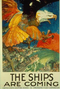 The USA joined the war in 1917 - a USA poster of the time #Rutherford 3