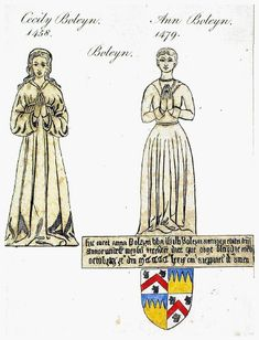 Funeral Brasses of Cecily and Ann Boleyn, Paternal Relations of Anne Boleyn