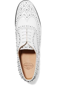 Church's - The Burwood Studded Leather Brogues - White - IT35.5