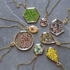 Wow. I love these flower necklaces. Pinned by wootandhammy.com ♥ thoughtful jewelry.