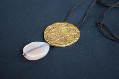 Round Charm Necklace Large Circle Disc Trending Minimal