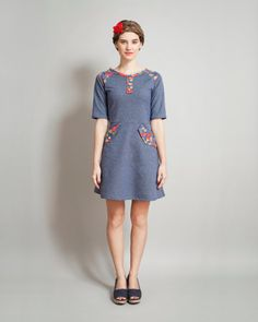 denim colored sweatshirt dress Supayana spring