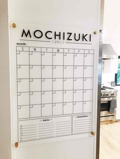 Minimal Family COmmand Center and Wall Calendar. Great for family and home organization. Family Organization Wall, Calendar Organization, Family Organizer, Home Office Organization, Bathroom Organization, Organizing Ideas, Family Calendar Wall, Family Wall, Calendar Home