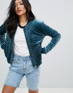 Buy Navy Glamorous Bomber jacket for woman at best price. Compare Jackets  prices from online stores like Asos - Wossel Global