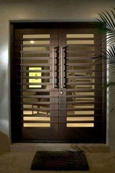 Spaces Door Design, Pictures, Remodel, Decor and Ideas - page 64 Door Grill, Grill Door Design, Main Door Design, Front Door Design, Modern Door Design, Contemporary Front Doors, Modern Front Door, Exterior Doors, Entrance Doors