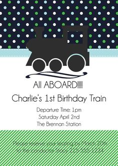 cute train invite