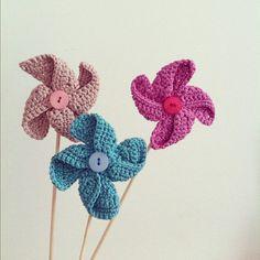 Molinillos  #crochet #naturadmc