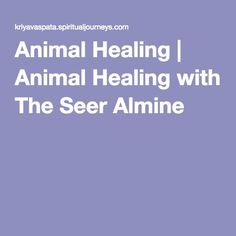 Animal Healing | Animal Healing with The Seer Almine
