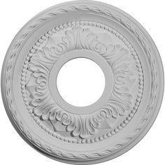 "Palmetto 12.13""H x 12.13""W x 1""D Ceiling Medallion"