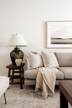 Interior Natural, Living Room Decor, Living Spaces, Living Room Inspiration, Wabi Sabi, Decoration, Home And Living, Sweet Home, New Homes