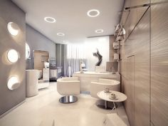 Stylish-consultation-room-interior-design - Stylish Medical Surgery Clinic Design – View Home Trends