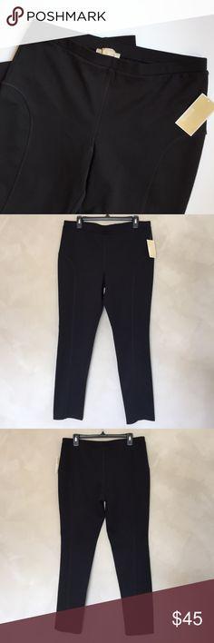 "NWT Michael Kors stretch pants NWT Michael Kors black stretch pants. Size XL. Approximate length is 38"", approximate inseam 29"", and approximate waist is 17"". Michael Kors Pants"