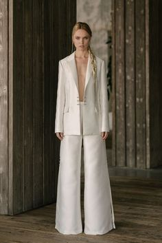 Wedding Suits For Bride, Wedding Pants, Chic Wedding, Rustic Wedding, Lgbt Wedding, Wedding Ceremony, Wedding Venues, Wedding Ideas, Wedding Dress Trends
