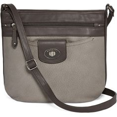 Rosetti Crossbody Bag ($33) ❤ liked on Polyvore featuring bags, handbags, shoulder bags, brown cross body purse, rosetti handbags, brown cross body handbags, rosetti purse and brown cross body