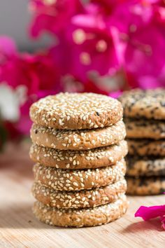 Our vegan tahini cookies only need 6 ingredients. They are super tasty and good for you, they use no refined sugar or added fat as tahini does all the work.