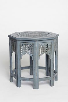 Morocco Hexagon Side Table from Urban Outfitters. Love the details, would be beautiful in all kinds of places.