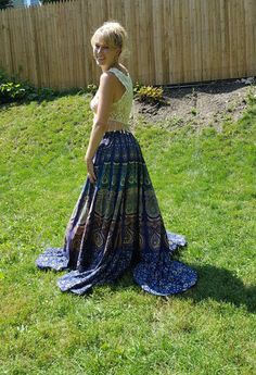 Plus Size Dresses – Long Party Skirt Evening Wedding Women Maxi Skirt – a unique product by IndianCraftPalace on DaWanda