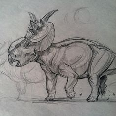 Another morning warm-up at the Zoo pachyrhinosaurus waiting for my CDA students to show up Dinosaur Drawing, Dinosaur Art, Monster Concept Art, Fantasy Monster, Animal Drawings, Cute Drawings, Drawing Animals, Dinosaur Sketch, Cool Dinosaurs