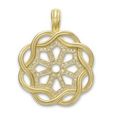 SLANE #Fenestra #Pendant with Pave #Diamonds in Yellow #Gold #lovegold #hintingseason