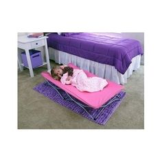 Girls Toddler Portable Travel Sleeping Canvas Bed Cot Camping Hotel Overnight