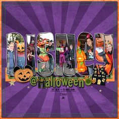 Disney at Halloween scrapbook layout