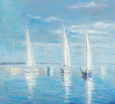 Painting Sailing Boats on Lake. #boatingonlake