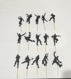 Fortnite silhouettes cupcake toppers Fortnite Birthday Party decorations, emojis/dances Fortnite Cupcakes Decoration,Fortnite cupcakes by on Etsy 13th Birthday Parties, 9th Birthday, Birthday Party Decorations, Birthday Cake Toppers, Birthday Cupcakes, Cupcake Toppers, Party Cupcakes, Wedding Shower Cupcakes, Dance Cakes