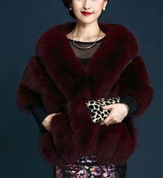 Fashion Women Luxury faux Fur Wedding Wraps Shrug Bolero Bridal Coat Shawl Cape in Clothing, Shoes & Accessories, Women's Clothing, Coats & Jackets Fur Fashion, Fashion Outfits, Fur Decor, Fox Fur, Wool Blend, Casual, How To Wear, Dress Shawl, Clothes