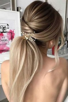 2018 Wedding Hair Trends 2018 wedding hairstyles_ponytail 2 Related posts: 5 Minute Hair Bun fashion hair diy hairdo updo hairstyle bun instructions direct… 40 ideas for diy fashion goth hair (Hair Braids Crown) Easy DIY Wedding Hairstyles for Long Hair – Wedding Hair And Makeup, Hair Makeup, Hair Styles Wedding Guest, Wedding Nails, Hair Updos For Weddings Guest, Hair Styles For Prom, Diy Wedding Hair, Ideas For Hair Styles, Hair Styles Elegant