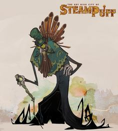 The Sky High City of Steampuff: Phinnegan Tentacle. Support the Steampuff Kickstarter at https://www.pinterest.com/eric3dee/steampunk-art/