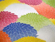 RARE Colourful Kyoyuzen Kiku Vintage Japanese by CosimaOrimono, $35.00