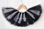 Black with white stripes tutu