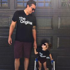 Original, Remix, Mommy and Me Matching outfits, Daddy and me Matching outfit, The Original & The Remix black and white shirts, Millennials by KaAnsDesigns on Etsy https://www.etsy.com/listing/468001051/original-remix-mommy-and-me-matching