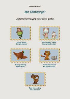 belajar anak 2 sd, membaca kalimat sederhana